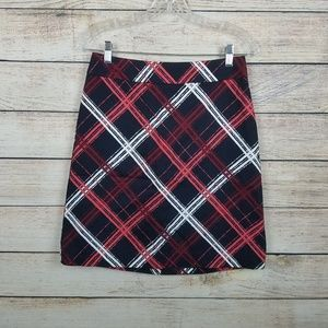 Ann Taylor Womens 2 Plaid Straight Pencil Skirt